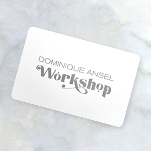 Gift card on worktop